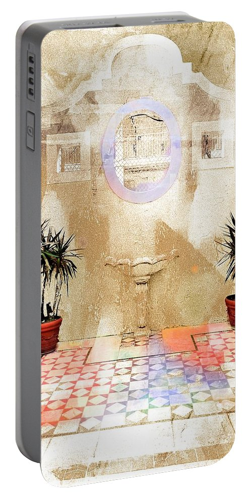 Spanish Patio Portable Battery Charger featuring the photograph Spanish Patio 03 by Carlos Diaz