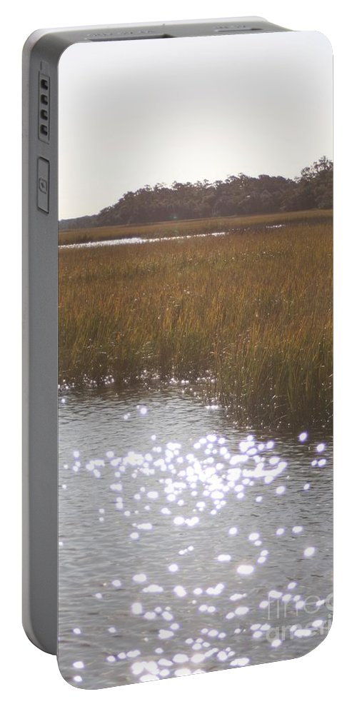 Marsh Portable Battery Charger featuring the photograph Sparkling Marsh by Nadine Rippelmeyer
