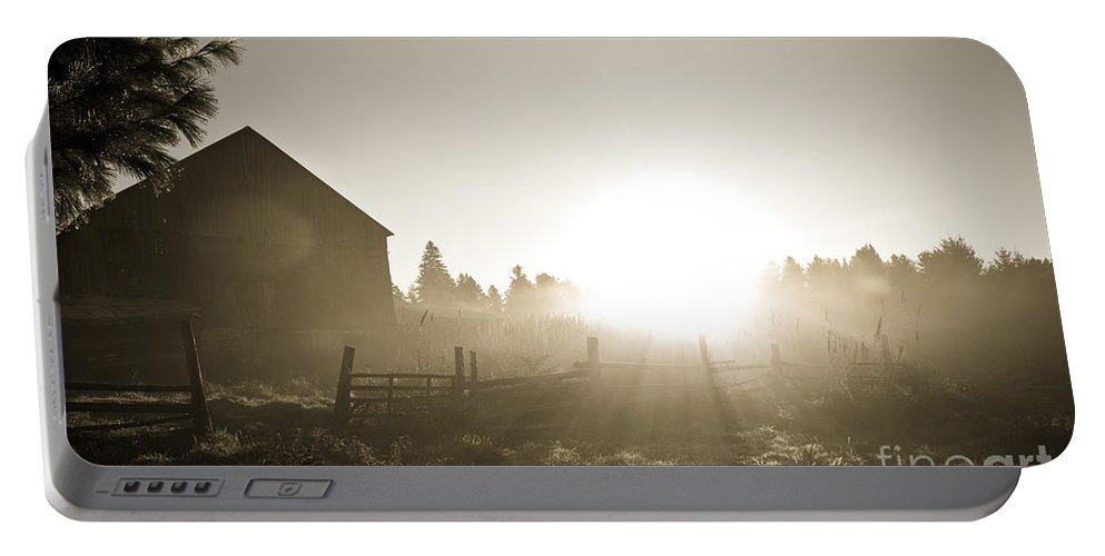 Portable Battery Charger featuring the photograph Spectacular Sepia Sunrise by Cheryl Baxter