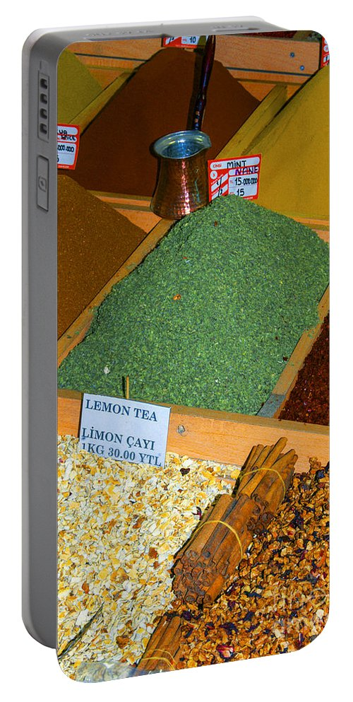 Spice Bazaar Portable Battery Charger featuring the photograph Spice Bar by Bob Phillips