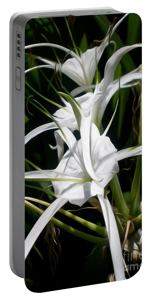 Photography Portable Battery Charger featuring the photograph Spider Lily by Kaye Menner