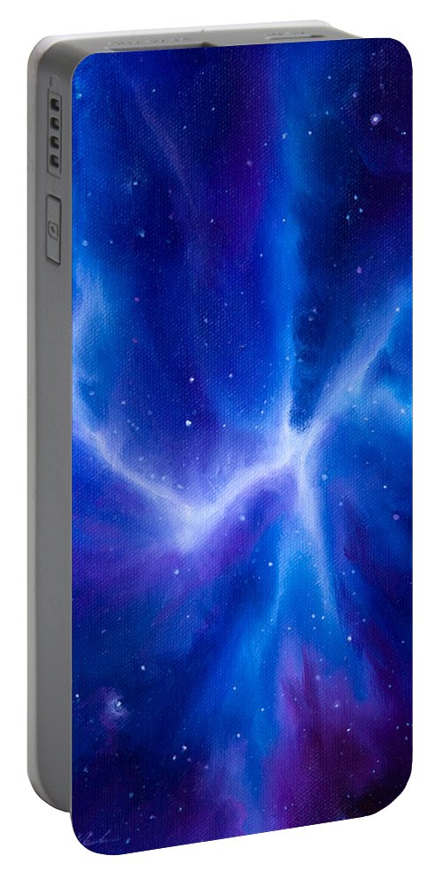Spider Portable Battery Charger featuring the painting Spider Nebula by James Christopher Hill