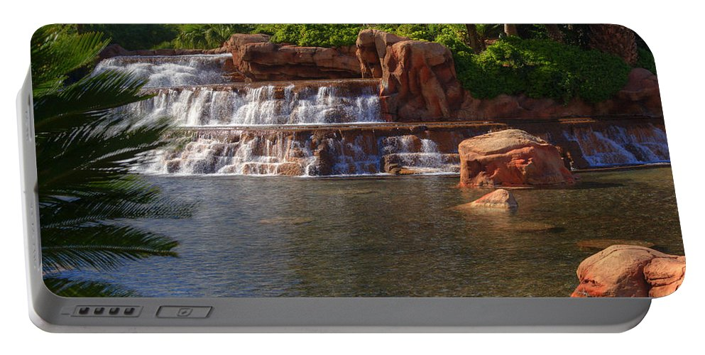 Waterfall Portable Battery Charger featuring the photograph Spilling Over Waterfall by Douglas Barnett