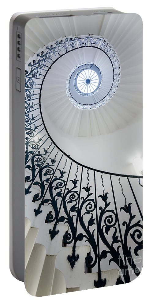 London Portable Battery Charger featuring the photograph Spiral Staircase by Matt Malloy