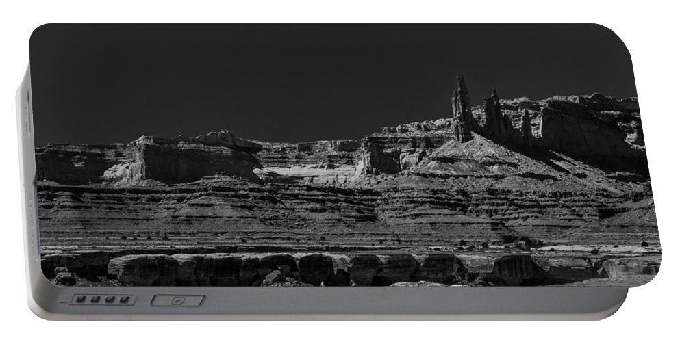 Moab Portable Battery Charger featuring the photograph Spires by Angus Hooper Iii