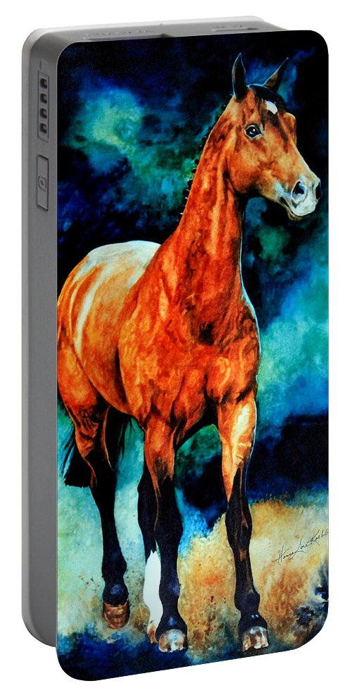 Horse Paintings Portable Battery Charger featuring the painting Spirit Horse by Hanne Lore Koehler