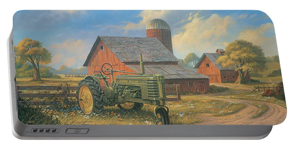 Landscape Portable Battery Charger featuring the painting Spirit Of America by Michael Humphries