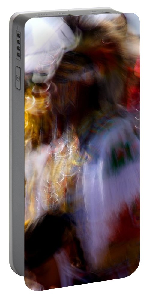 Pow Wow Portable Battery Charger featuring the photograph Spirits 2 by Joe Kozlowski