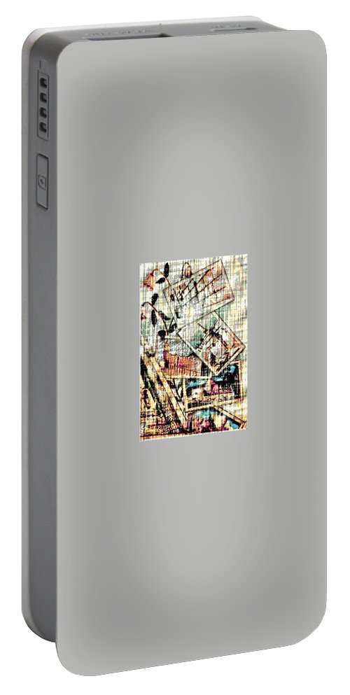 Holliland Image Portable Battery Charger featuring the digital art Spirtuality IIi by Yael VanGruber