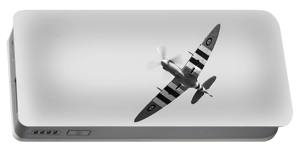 Air Portable Battery Charger featuring the photograph Spitfire by Matt Malloy
