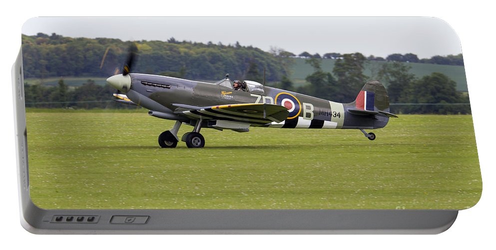 Supermarine Spitfire Portable Battery Charger featuring the photograph Spitfire Mk Ixb by J Biggadike