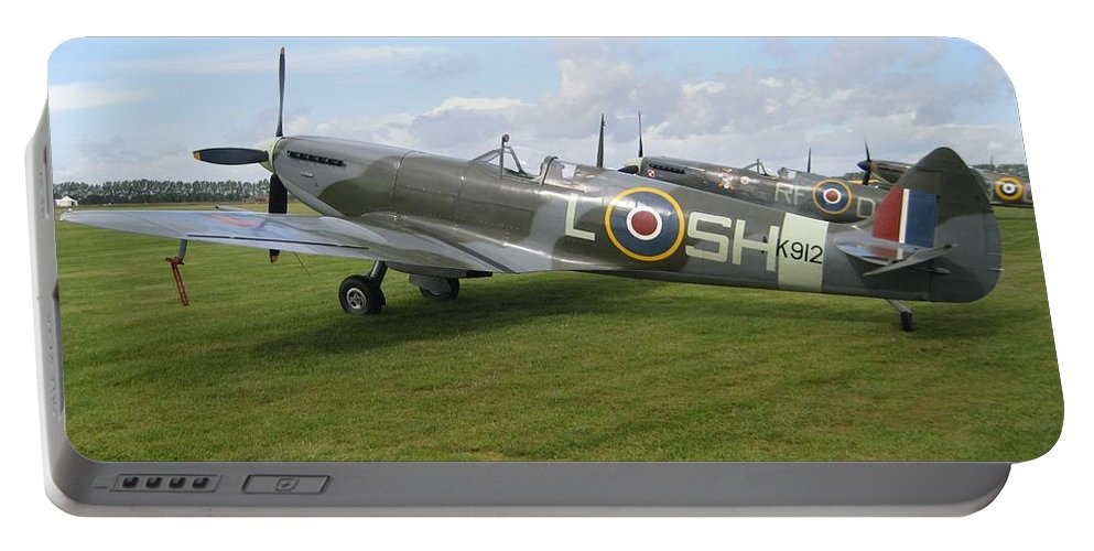 Spitfires Portable Battery Charger featuring the photograph Spitfires by Robert Phelan