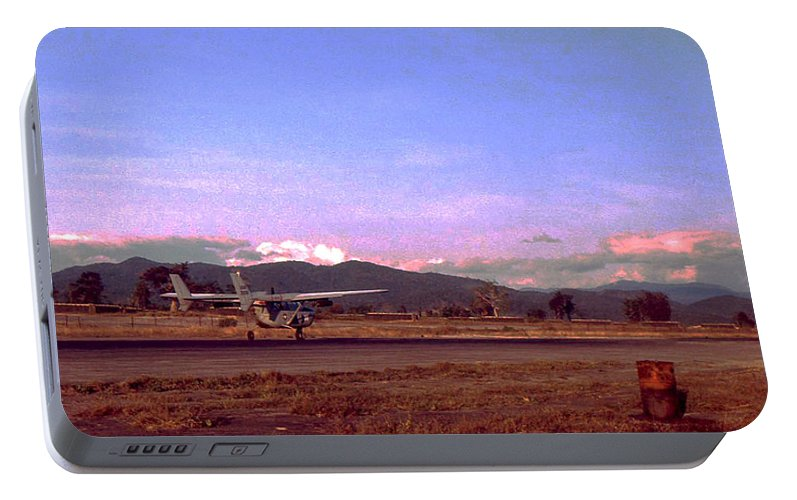 Vietnam Portable Battery Charger featuring the photograph Spotter Plane by Norman Johnson