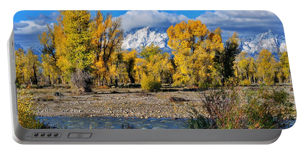 Spread Creek Portable Battery Charger featuring the photograph Spread Creek Grand Teton National Park by Greg Norrell