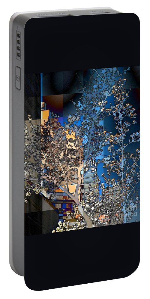Flowers Portable Battery Charger featuring the photograph Spring Blossoms In The City - New York by Miriam Danar