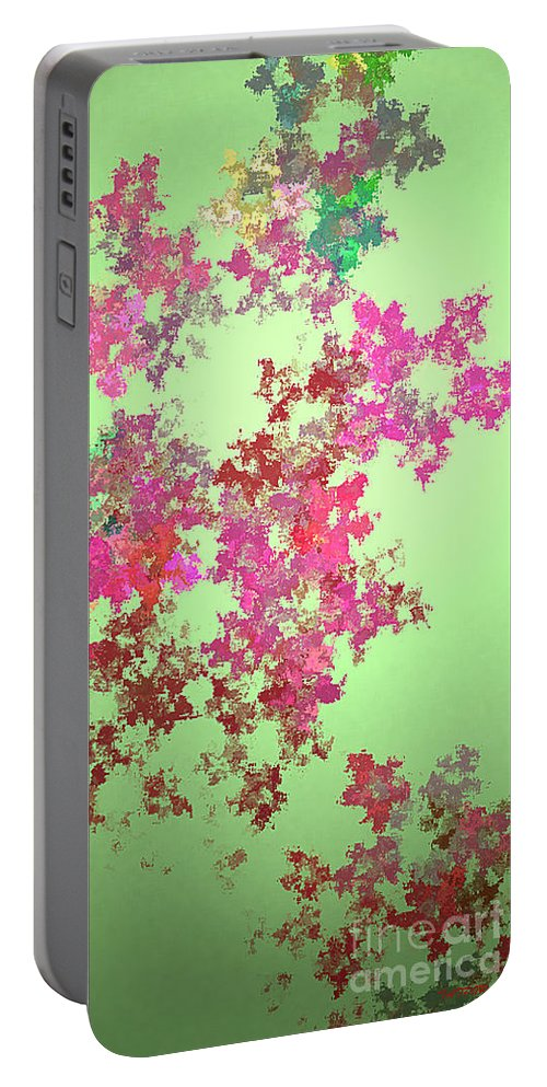 Digital Art Portable Battery Charger featuring the painting Spring Bouquet by Tatjana Popovska