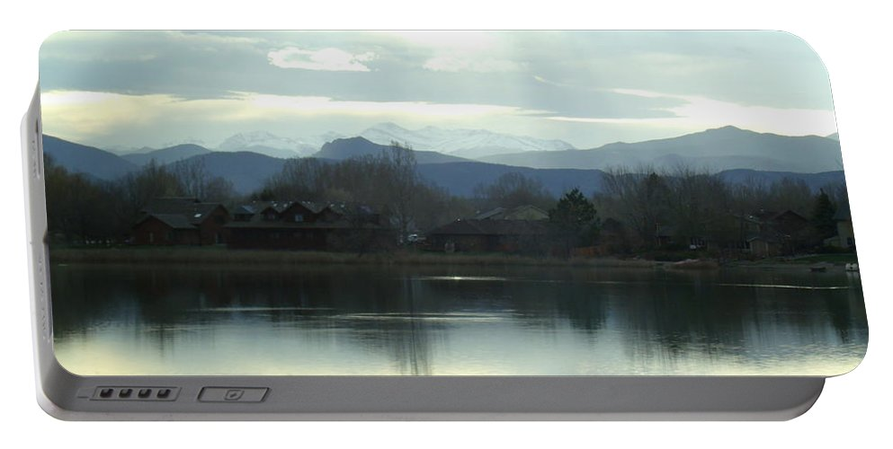 Lake Portable Battery Charger featuring the photograph Spring Chill by Jessica Myscofski