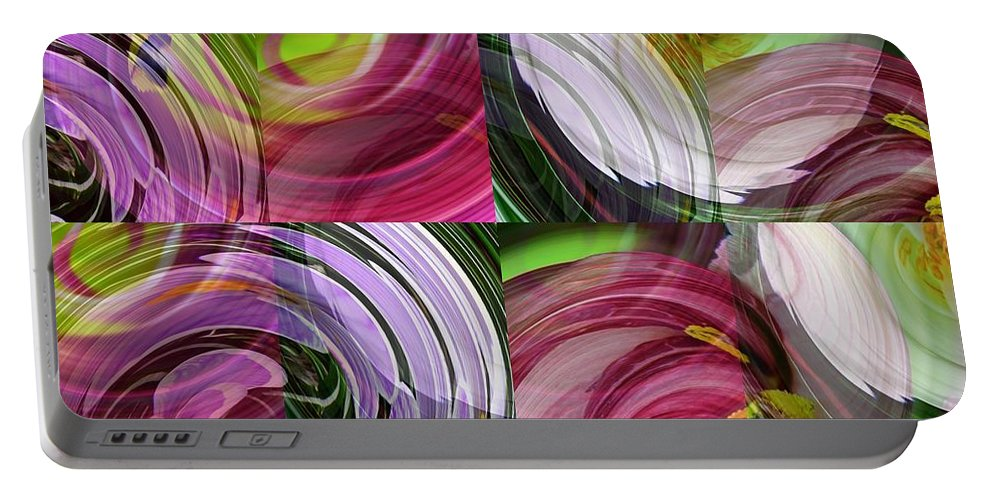 Spring Portable Battery Charger featuring the digital art Spring Colors by Sarah Loft