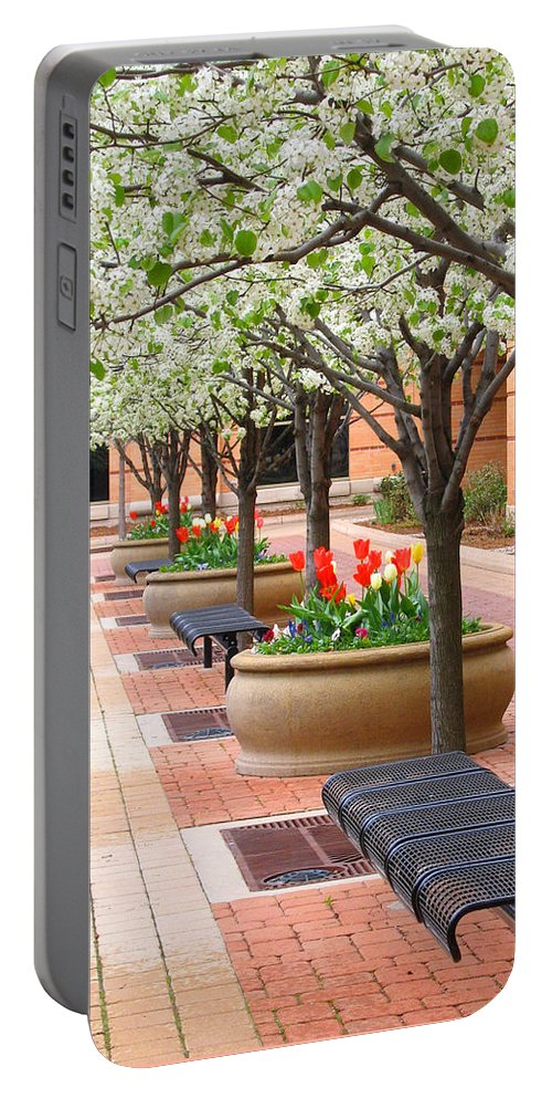 Spring Portable Battery Charger featuring the photograph Spring Fragrance by Ann Horn