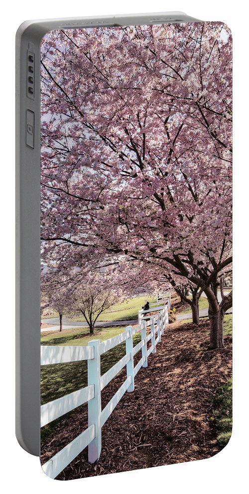 Appalachia Portable Battery Charger featuring the photograph Spring Pink by Debra and Dave Vanderlaan