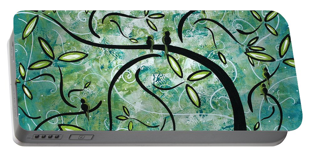 Wall Portable Battery Charger featuring the painting Spring Shine By Madart by Megan Duncanson