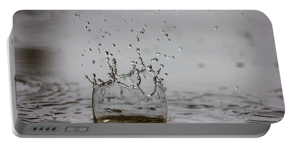 Water Portable Battery Charger featuring the photograph Spring Splash by Penny Meyers