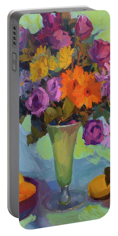 Spring Still Life Portable Battery Charger featuring the painting Spring Still Life by Diane McClary
