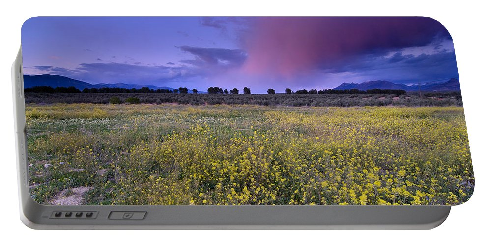 Storm Portable Battery Charger featuring the photograph Spring Storm At Andalucia by Guido Montanes Castillo