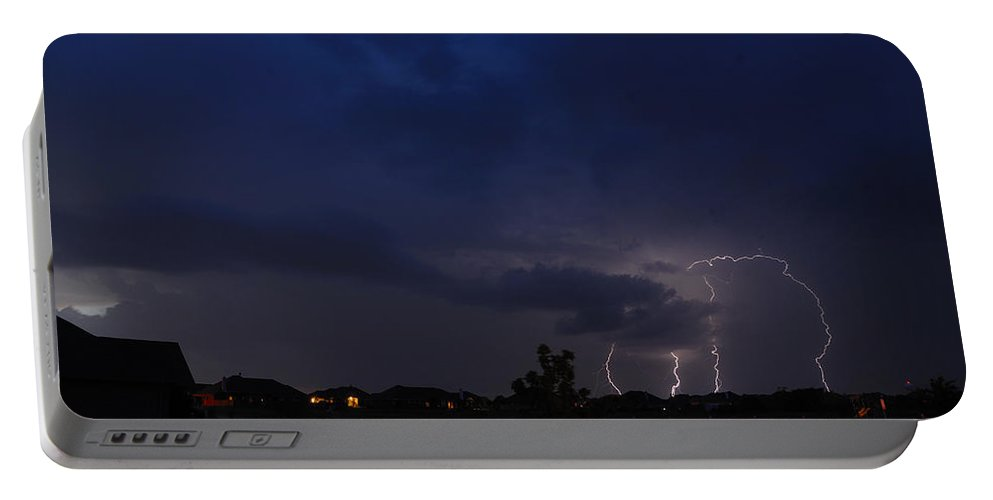 Lighteng Portable Battery Charger featuring the photograph Spring Storm by Charles Beeler