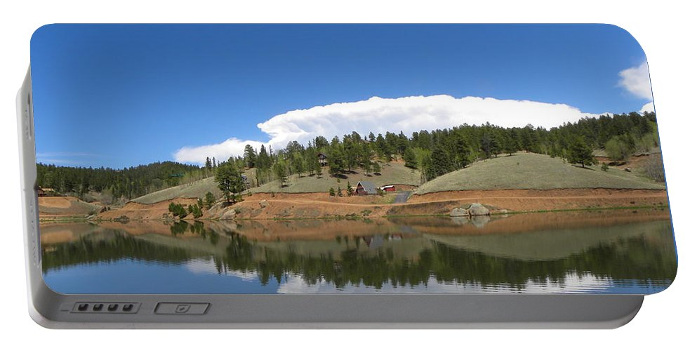 Burgess Portable Battery Charger featuring the photograph Ridge Over Burgess Res Divide Co by Margarethe Binkley