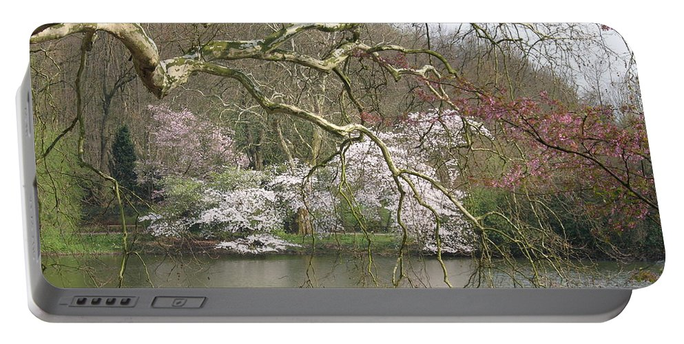 Pond Portable Battery Charger featuring the photograph Springtime At The Pond by Christiane Schulze Art And Photography