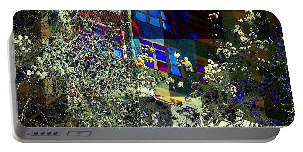 Flowers Portable Battery Charger featuring the photograph Springtime In New York 8 by Miriam Danar