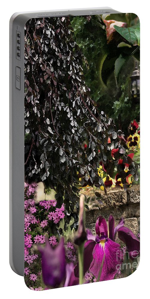 Springtime Portable Battery Charger featuring the digital art Springtime In Zebulon Center by Paul Gentille