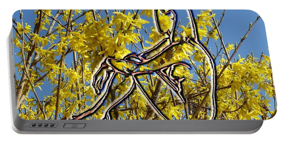 Nude Portable Battery Charger featuring the photograph Springtime by Patrick J Murphy