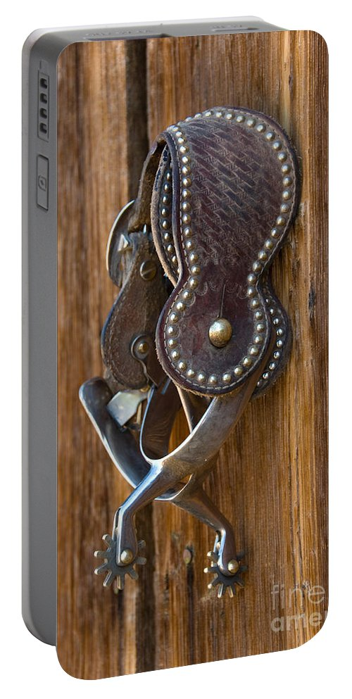 Spurs Portable Battery Charger featuring the photograph Spurs by John Shaw