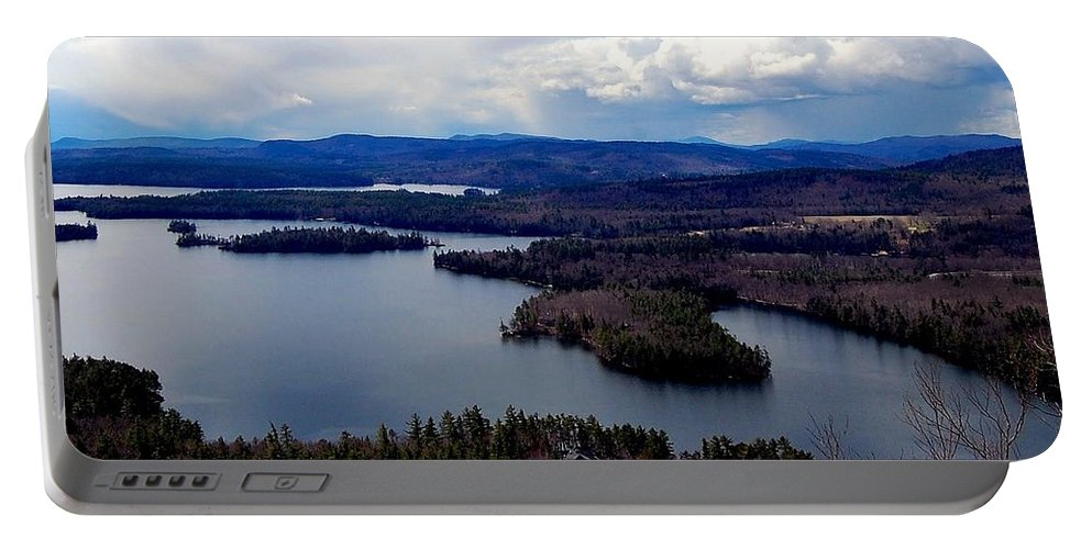 Squam Portable Battery Charger featuring the photograph Squam Lake New Hampshire by Mim White