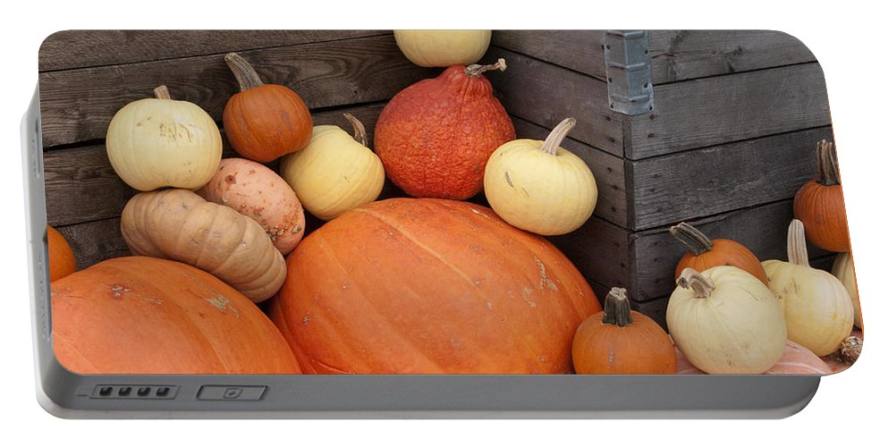 Squash Portable Battery Charger featuring the photograph Squash Harvest by Ann Horn
