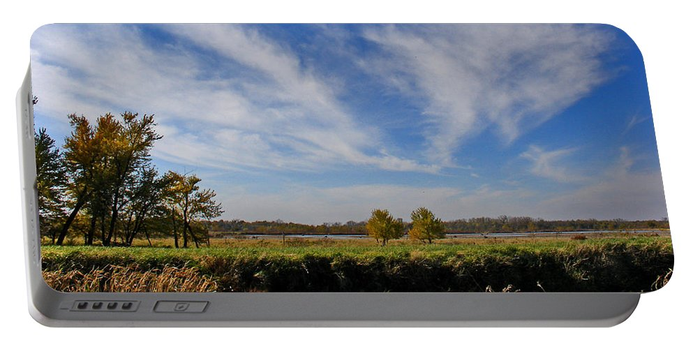 Landscape Portable Battery Charger featuring the photograph Squaw Creek Landscape by Steve Karol