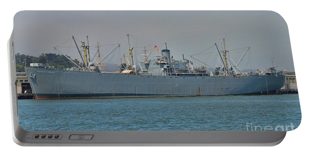 Ss Jeremiah O'brien Portable Battery Charger featuring the photograph Ss Jeremiah O'brien -2 by Tommy Anderson