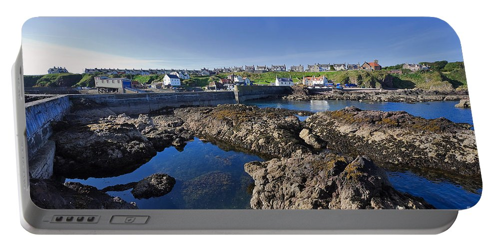 Travel Portable Battery Charger featuring the photograph St Abbs Scotland by Louise Heusinkveld