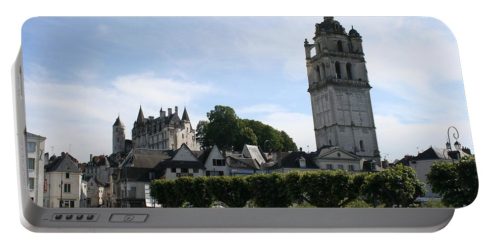 View Portable Battery Charger featuring the photograph St. Antoine Tower And The Chateau De Loches by Christiane Schulze Art And Photography