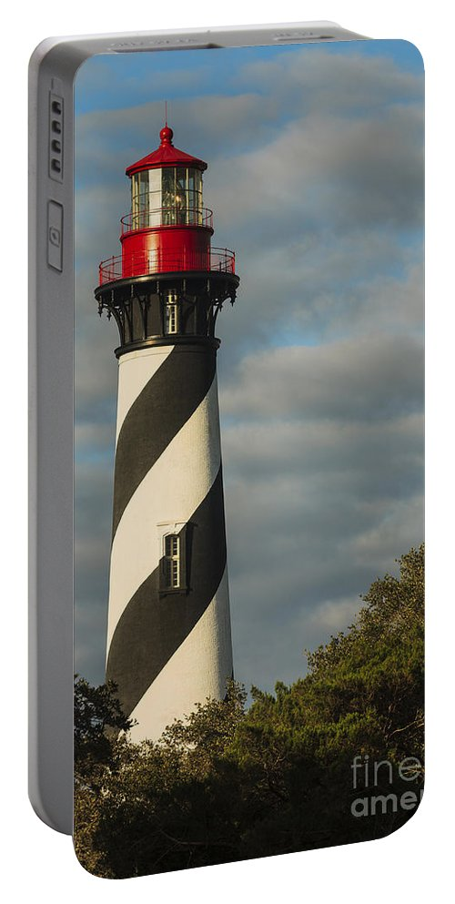 St. Augustine Lighthouse Portable Battery Charger featuring the photograph St. Augustine Lighthouse 1 by Maria Struss