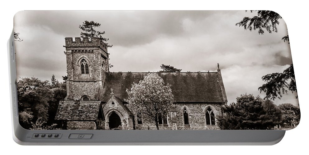 Aisle Portable Battery Charger featuring the photograph St Barnabas Faccombe by Mark Llewellyn