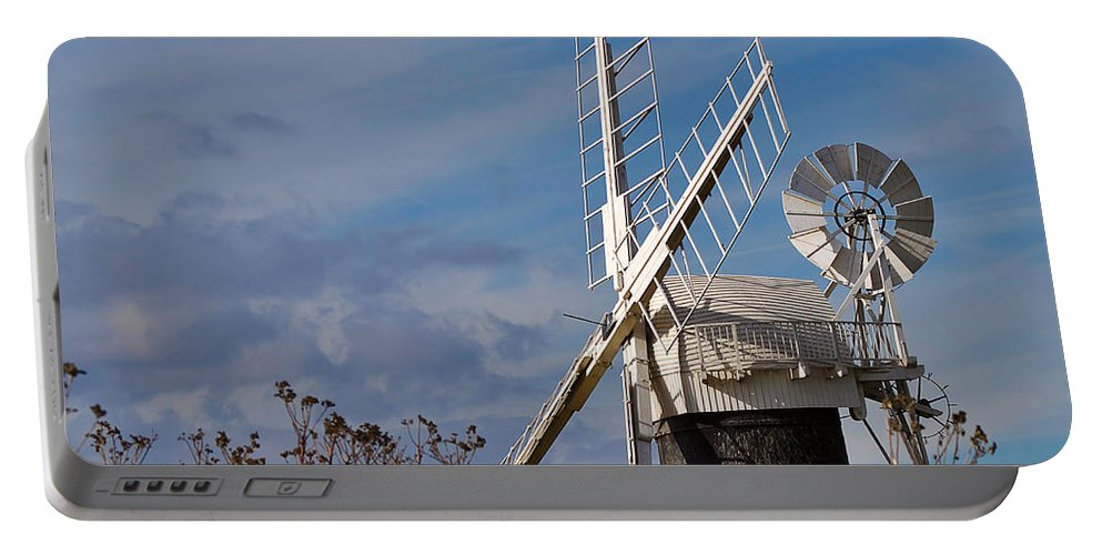 Travel Portable Battery Charger featuring the photograph St Benets Drainage Mill Norfolk by Louise Heusinkveld