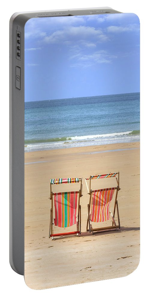 St Brelade Portable Battery Charger featuring the photograph St Brelade's Bay - Jersey by Joana Kruse