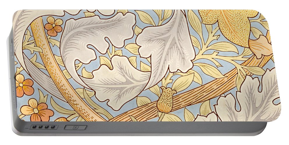 St James Portable Battery Charger featuring the painting St James Wallpaper Design by William Morris