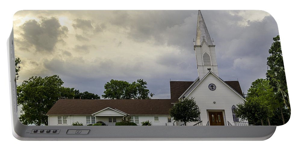 St John Lutheran Church Of Prairie Hill Portable Battery Charger featuring the photograph St John Lutheran Church Of Prairie Hill by David Morefield