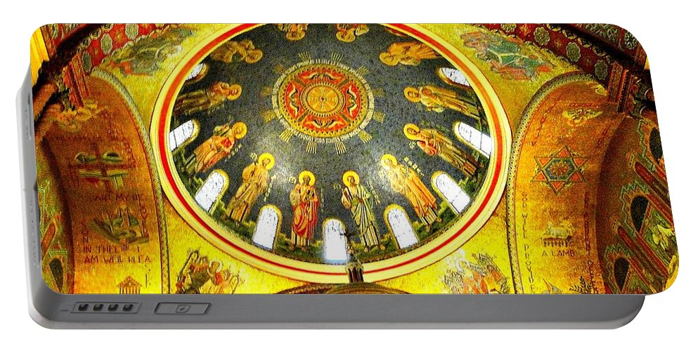 St. Louis Portable Battery Charger featuring the photograph St. Louis Cathedral Dome 2 by Cynthia Croal