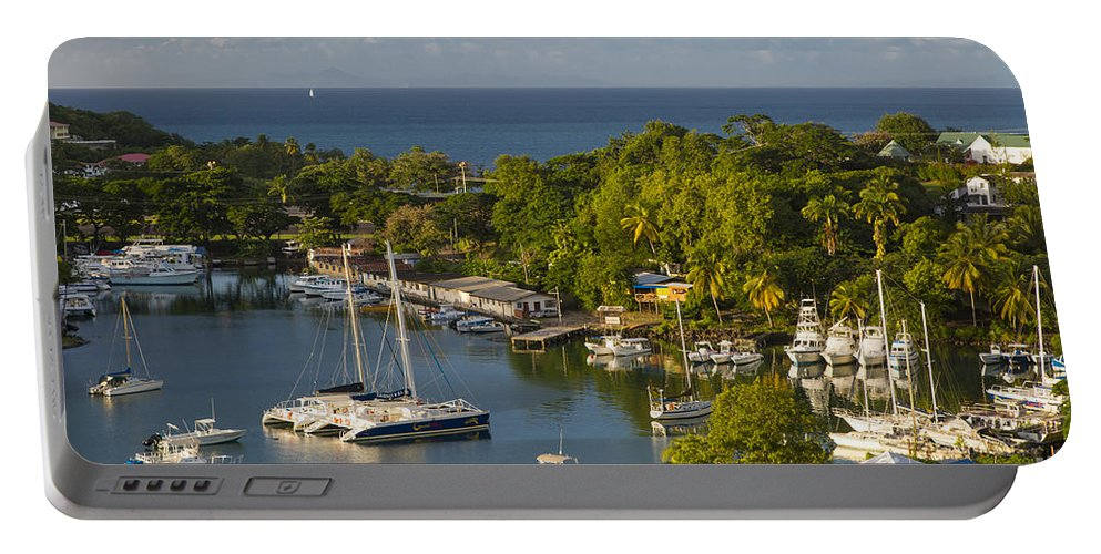 Antilles Portable Battery Charger featuring the photograph St Lucia Harbor by Brian Jannsen