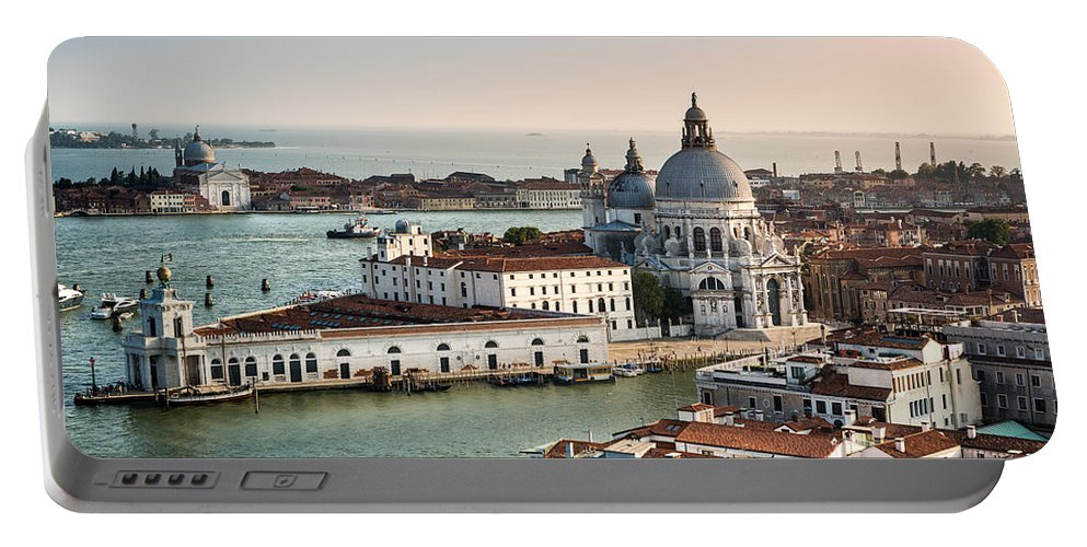 Day Portable Battery Charger featuring the photograph St Maria Of Salute by Mihai Andritoiu
